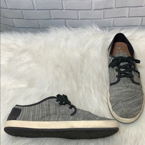 Toms Black/White Mens Comfort Sneakers Size 11